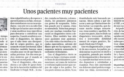 Unos pacientes muy pacientes